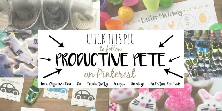 Click this Pic to follow Productive Pete on Pinterest