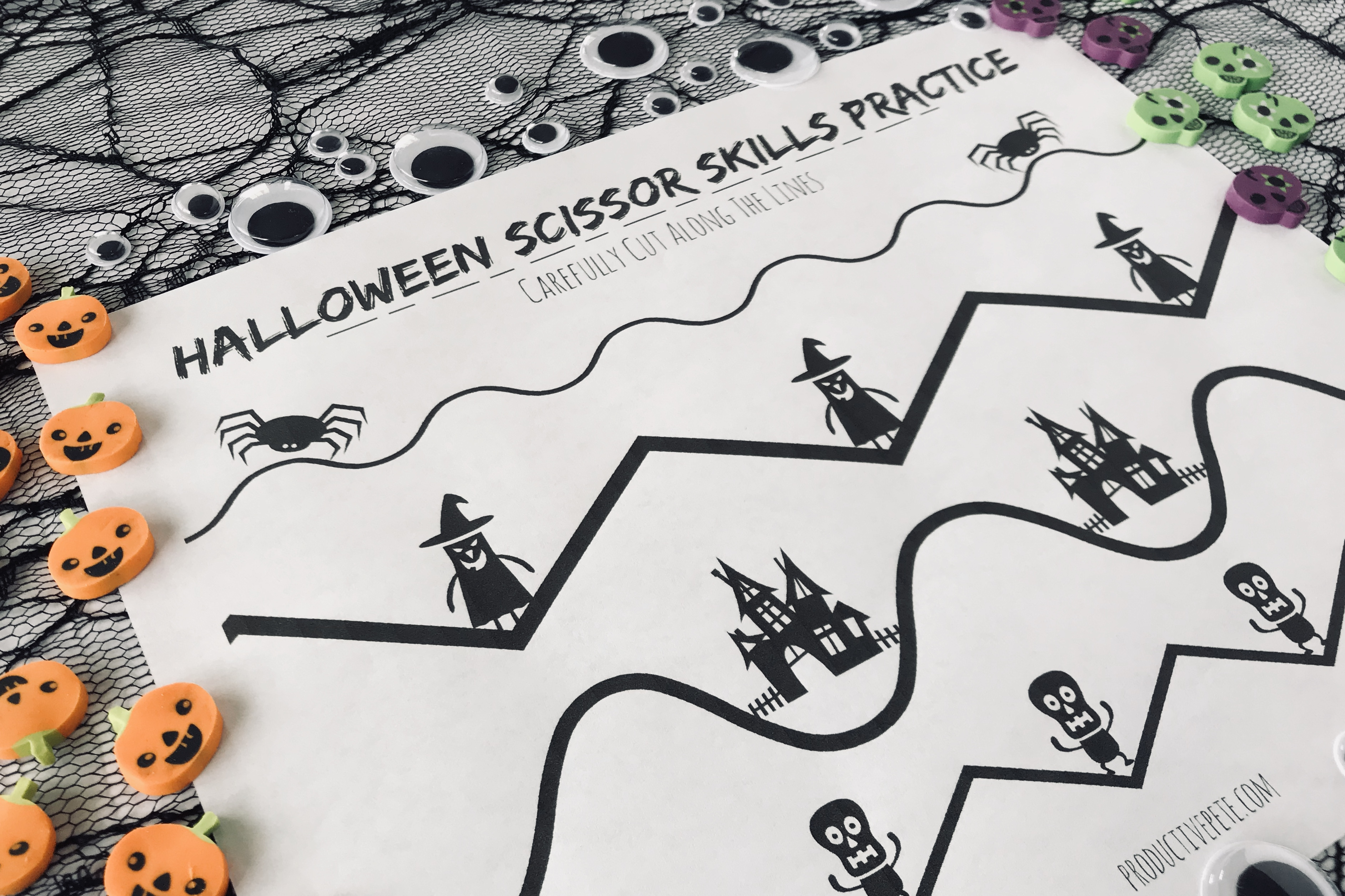 Halloween Scissor Practice Worksheet