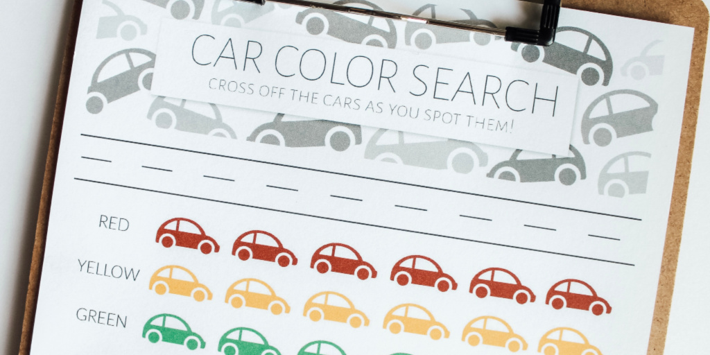 Car Color Search Road Trip Printable Game for Kids ...