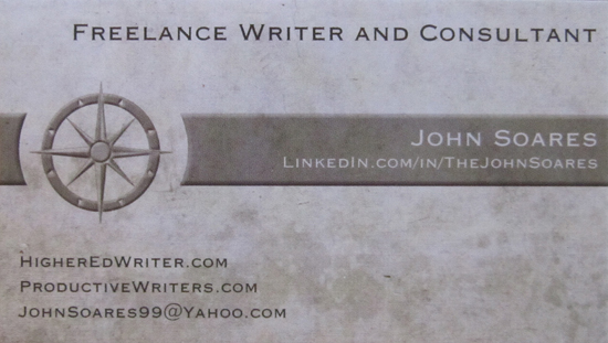 My new freelance writer business card productive writers colourmoves