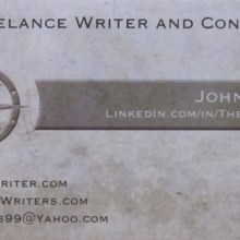 My New Freelance Writer Business Card