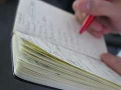Freelance writers need to take notes in interviews. This is the old-fashioned way.