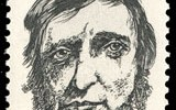 Henry David Thoreau United States postage stamp, five cents, 1967.