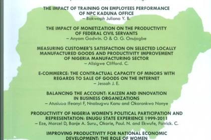 January to June 2018 edition of the Productivity Journal