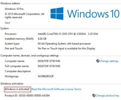 windows 8 pro upgraded to windows 10 pro license or product key
