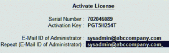 tally erp 9 activation key