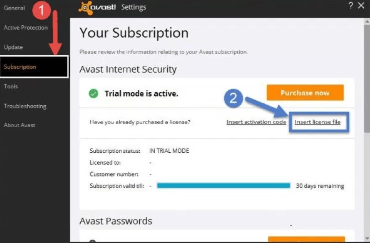 Avast internet Security License File, Activation Code 2018