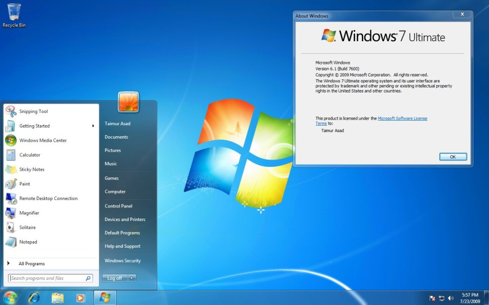 Windows 7 Torrent ISO 32 & 64 Bit Download