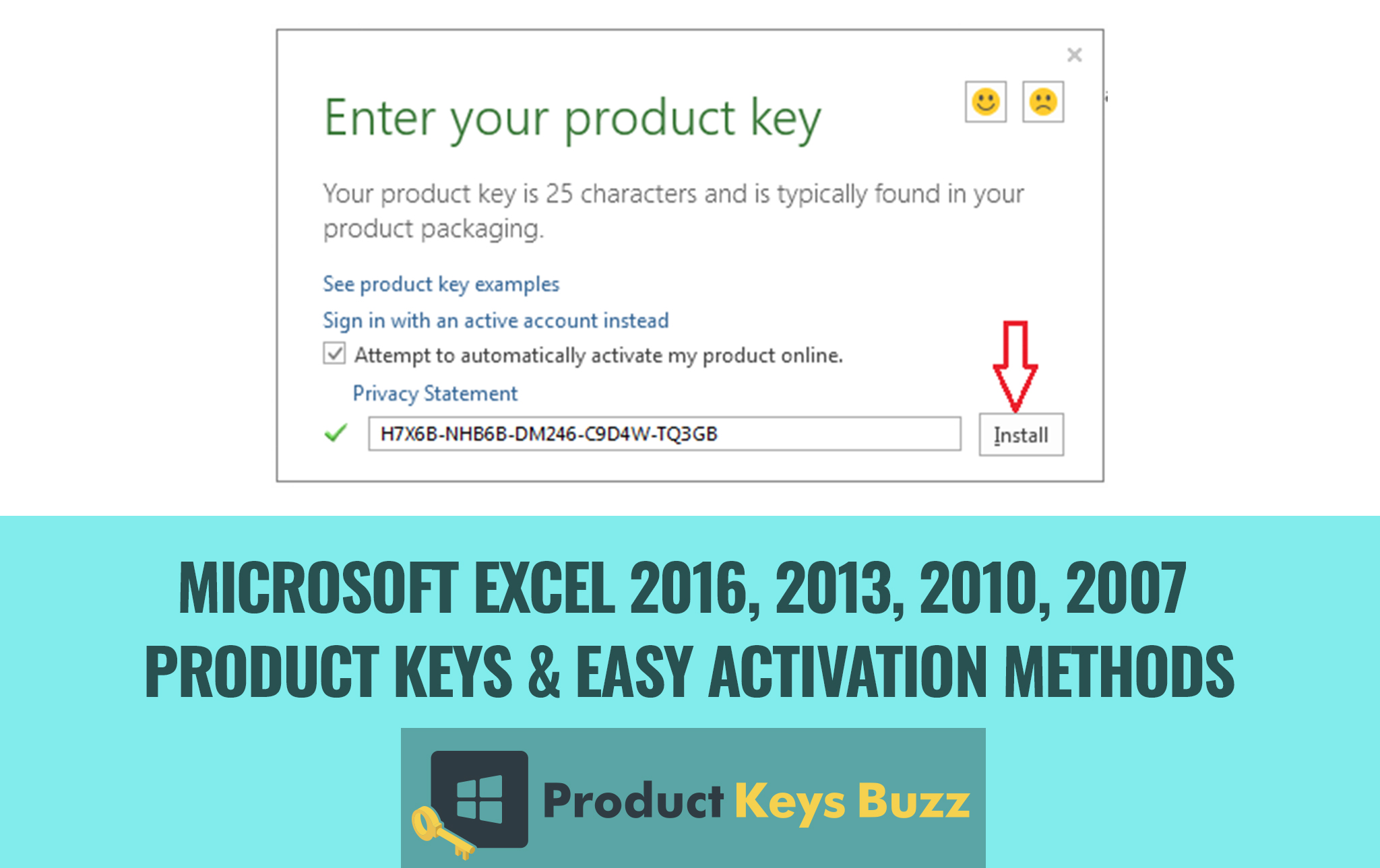 Microsoft Excel Product Keys Amp Easy