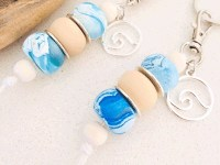 Clay-bead Wave Keyring