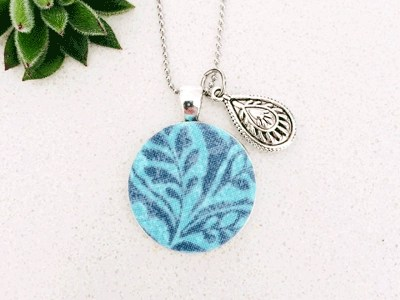 Pendant Necklace Blue-Teal