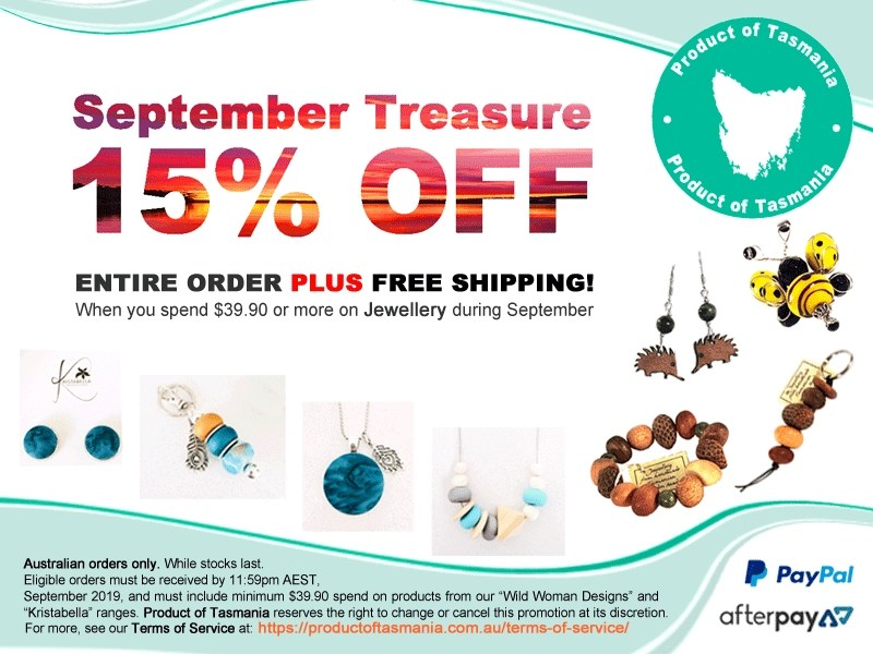Product of Tasmania, September Treasure promotion