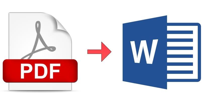 Transformo archivos de PDF a Word