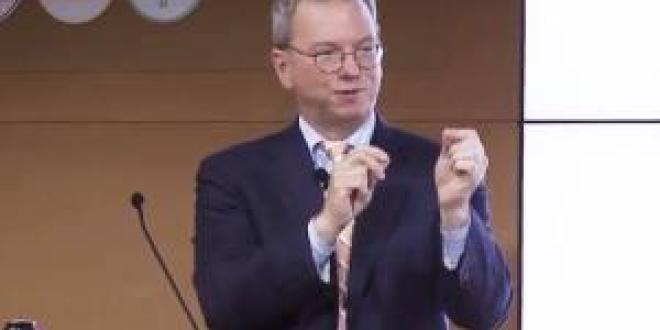 Eric Schmidt hablando de un Google comprometido – Foto de Register