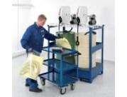 Almacenar y evitar derrames de residuos