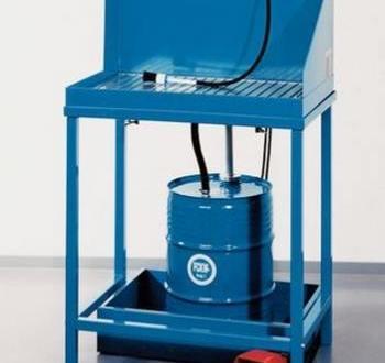 Limpiador de piezas K5 con conexión para un bidón de 50 l, estacionario