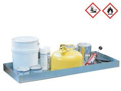 Cubeto de acero de retención para almacenar sustancias peligrosas