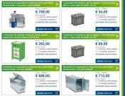 Algunos de los contenedores DENIOS para reciclar pilas y baterías - Pincha en la imagen y elige