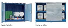 Puertas batientes o correderas para el Basic Store y el almacenamiento de sustancias químicas