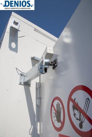 Mecanismo de bloqueo de puertas homologado para almacén BMC. Sistema seguro de apertura y cierre de puertas con electroimán