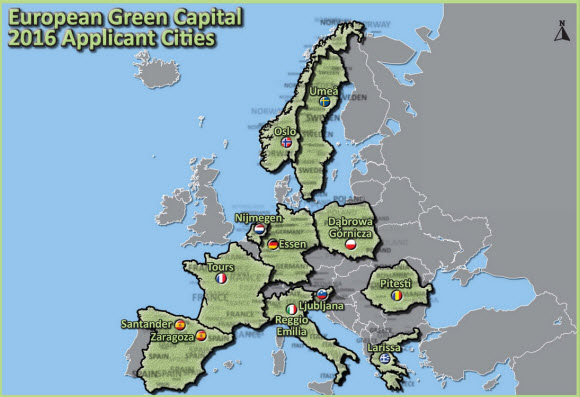 Zaragoza y Santander son candidatas a Capital Verde 2016