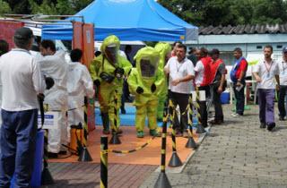 Simulacro de accidente químico