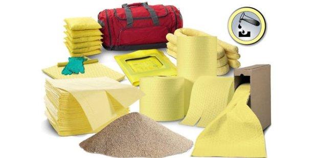 Absorbentes industriales: sepiolita, bayetas, trapos y almohadillas para productos químicos