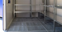 Almacenes, contenedores resistentes al fuego para el almacenamiento de residuos inflamables