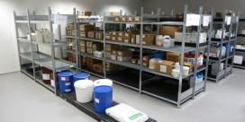 Almacenamiento de sustancias de limpieza