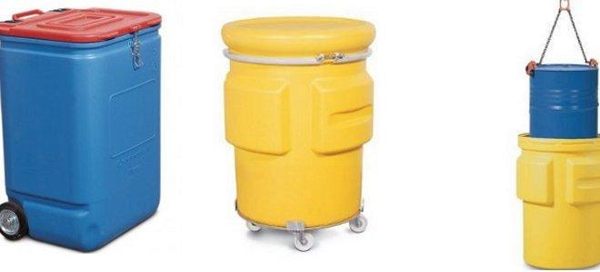 Bidones y caja de seguridad para el transporte de mercancias peligrosas