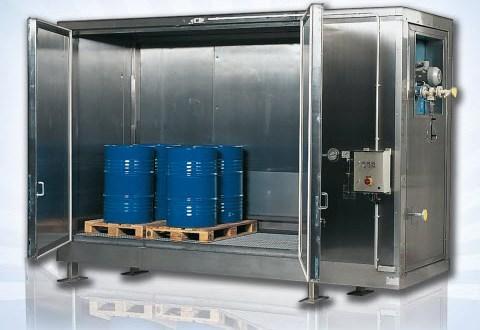 Bodega de calentamiento para atemperar las sustancias químicas