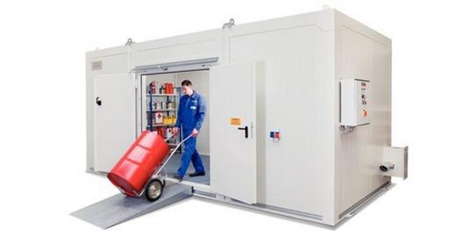 Almacenes para productos químicos resistentes al fuego, REI 120
