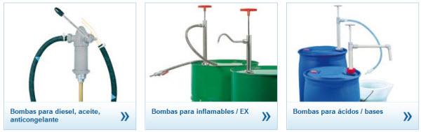 Bombas para bidones