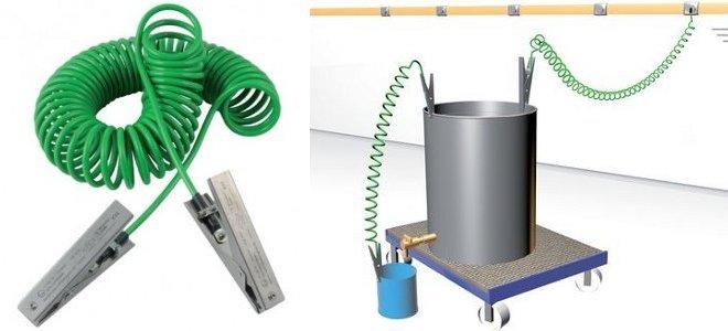 Todas las instalaciones se tienen que conectar a tierram (en la imagen de ejemplo un cubeto)