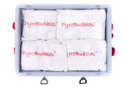 Caja de transporte para baterías ión litio PP, 56 l, S-Box 1 Basic, relleno PyroBubbles®