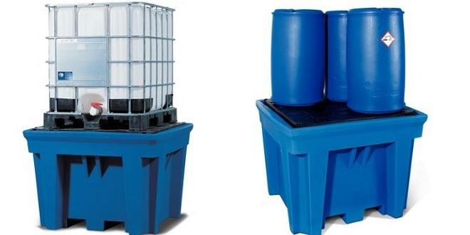 Estaciones de llenado en plástico para líquidos corrosivos