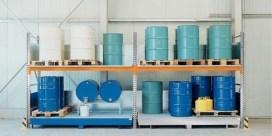 Estanterías para productos químicos con cubeto de retención