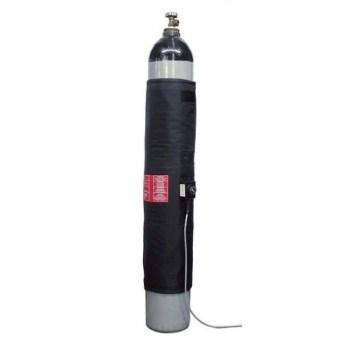 Manta calefactora para botella de gas
