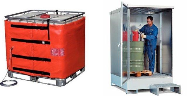 Diferencias al calentar sustancias químicas con cámara o manta térmica
