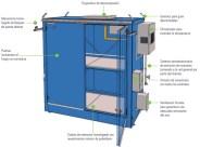 Esquema de un almacén para peróxidos orgánicos cumpliendo la ITC MIE APQ 9