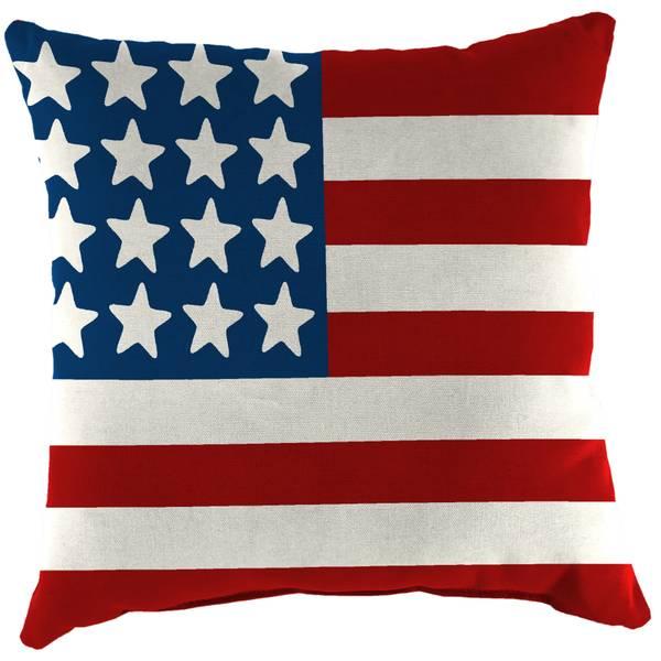 16 x16 printed wicker toss pillow