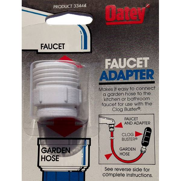 faucet adapter for the oatey clog buster