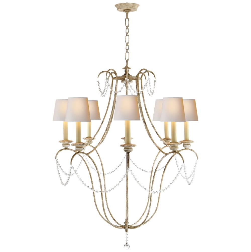 visual comfort chandeliers casual white