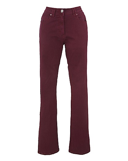 Wine bootcut jeans £27 from FashionWorld
