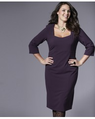 Magi-Sculpt Three Quarter Length Plus Size Dress