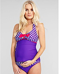 Pin Up Spot Halter Tankini Set
