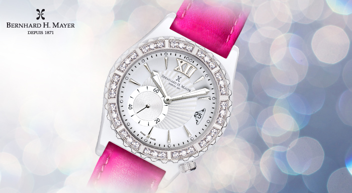 La Vida Ceramic Watch - Pink Strap (1/6)