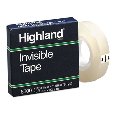 """Legacy Brand Invisible Tape 1//2/"""" wide 1296/""""  Easily Written On 12 Rolls"""