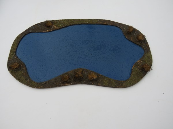 "Large pond 15""x 8""  blue"
