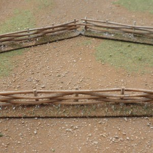 Wattle Fence 28mm. 20mm high